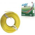 KEI Copper Wire, Size 1.5 sq mm, Color Yellow