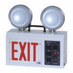 MOP EMSPLWEX Exit Emergency Light, Color White