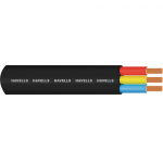Havells Flat PVC Sheathed Industrial Cable for Submersible Pump Motors, Conductor Area 4sq mm, Length 1000m