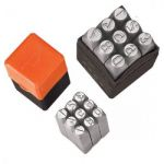 Groz NP/1 Steel Stamp - Numbers, Size 1mm