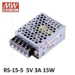 MEANWELL RS-15-5 SMPS Enclosed Power Supply, Output 5V