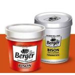 Berger 006 Bison Acrylic Distemper, Capacity 1l, Color Broken White