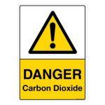 Safety Sign Store CW109-A3AL-01 Danger: Carbondioxide Sign Board