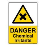 Safety Sign Store CW110-A3AL-01 Danger: Chemical Irritants Sign Board
