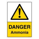 Safety Sign Store CW111-A3V-01 Danger: Ammonia Sign Board