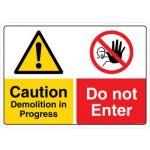Safety Sign Store CW209-A2V-01 Danger: Demolition In Progress Do Not Enter Sign Board