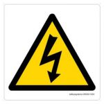 Safety Sign Store CW309-105PC-01 High Voltage-Graphic Sign Board