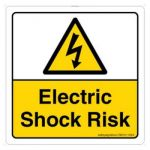 Safety Sign Store CW312-105V-01 Electric Shock Risk Sign Board