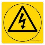 Safety Sign Store CW313-105V-01 Electric Shock-Graphic Sign Board