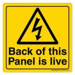 Safety Sign Store CW324-105AL-01 Back Of This Panel Is Live Sign Board