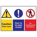 Safety Sign Store CW403-A4AL-01 Caution: Boiler Room Door To Be Kept Locked Sign Board