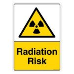 Safety Sign Store CW419-A3AL-01 Radiation Risk Sign Board