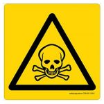 Safety Sign Store CW439-210PC-01 Toxic-Graphic Sign Board