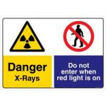 Safety Sign Store CW440-A3PC-01 Danger: X-Rays Sign Board