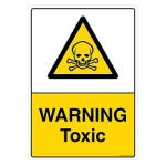 Safety Sign Store CW447-A4AL-01 Warning: Toxic Sign Board