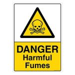 Safety Sign Store CW454-A4AL-01 Danger: Harmful Fumes Sign Board