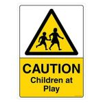 Safety Sign Store CW605-A2V-01 Caution: Children At Play Sign Board