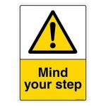 Safety Sign Store CW607-A4PC-01 Mind Your Step Sign Board