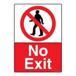 Safety Sign Store CW609-A3AL-01 No Exit Sign Board