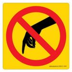Safety Sign Store CW613-105V-01 Do Not Touch-Graphic Sign Board