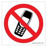 Safety Sign Store CW614-105V-01 No Mobile Phones-Graphic Sign Board