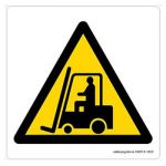 Safety Sign Store CW615-105V-01 Fork Lift Trucks-Graphic Sign Board