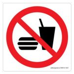 Safety Sign Store CW616-210V-01 No Food-Graphic Sign Board