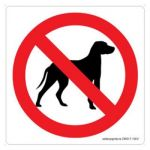 Safety Sign Store CW617-105V-01 No Dogs-Graphic Sign Board