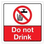 Safety Sign Store CW629-105V-01 Do Not Drink Sign Board
