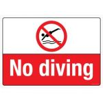 Safety Sign Store CW630-A3PC-01 No Diving Sign Board