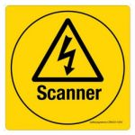 Safety Sign Store CW633-210V-01 Scanner Sign Board
