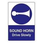 Safety Sign Store CW701-A3PC-01 Sound Horn Drive Slowly Sign Board