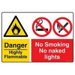 Safety Sign Store CW707-A3V-01 Danger: Highly Flammable Sign Board
