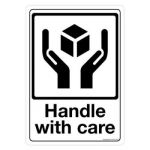 Safety Sign Store CW904-A5V-01 Handle With Care Sign Board