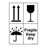 Safety Sign Store CW905-A5V-01 Fragile Keep Dry Sign Board