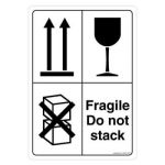 Safety Sign Store CW906-A5V-01 Fragile Do Not Stack Sign Board