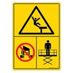Safety Sign Store DS412-A6V-01 Warning: Fall Hazard - Graphic Sign Board