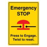 Safety Sign Store DS417-A6V-01 Emergency Stop Sign Board