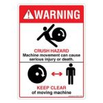 Safety Sign Store DS435-A6PC-01 Warning: Crush Hazard Sign Board