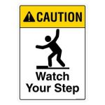 Safety Sign Store FS105-A3V-01 Caution: Watch Your Step Sign Board