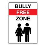 Safety Sign Store FS112-A3PC-01 Bully Free Zone Sign Board