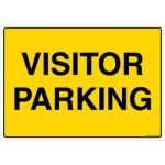 Safety Sign Store FS516-A4PC-01 Visitor Parking Sign Board