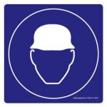Safety Sign Store FS616-105V-01 Hard Hat-Graphic Sign Board