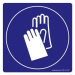 Safety Sign Store FS618-210PC-01 Protective Gloves-Graphic Sign Board