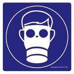 Safety Sign Store FS619-105AL-01 Gas Mask-Graphic Sign Board