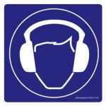 Safety Sign Store FS625-105V-01 Ear Protection-Graphic Sign Board