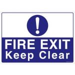 Safety Sign Store FS637-A3PC-01 Fire Exit Keep Clear Sign Board