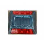 Kohinoor KE-SOLRPM Solar Road Stud, Size 125 x 125 x 30mm, Color Red