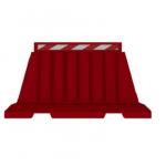 Kohinoor KE-16BAR Barrier, Color Red, Length 1600mm