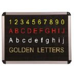Asian Perforated Black Board (Dotted Board) Alphabetic Letters, Size 12mm, White Color